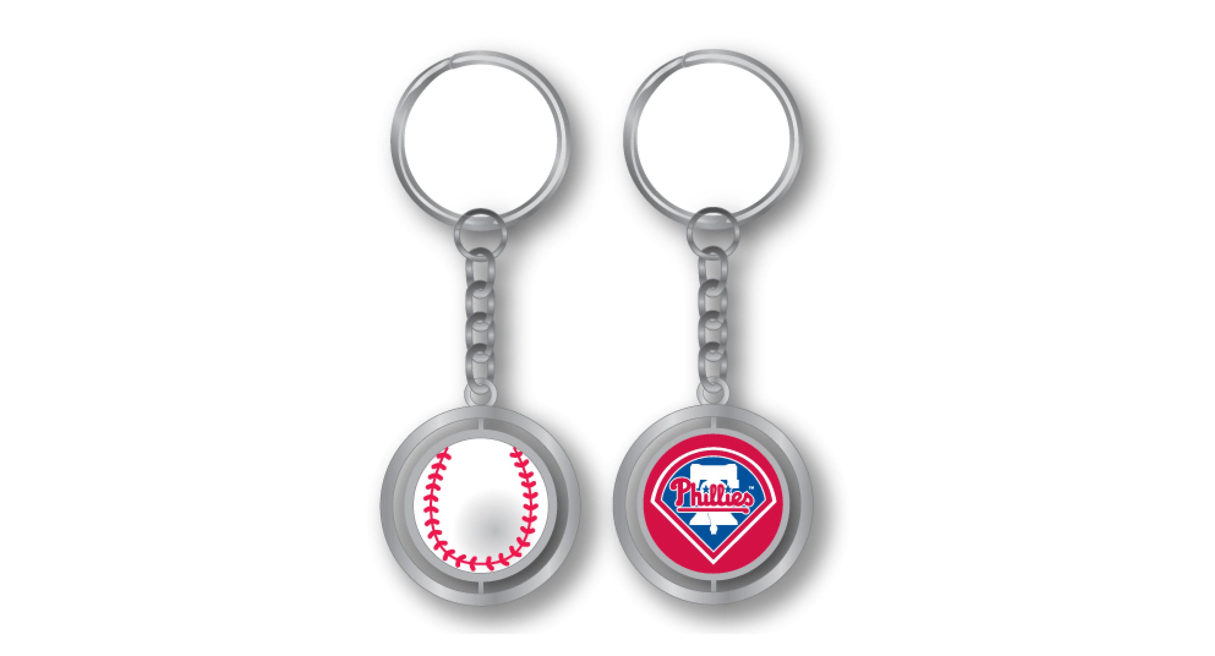 Aminco Philadelphia Phillies Spinning Baseball Key Ring  fb7a17239