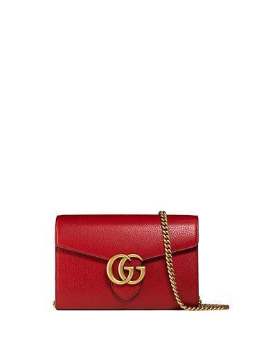 c151e24d39a Gucci GG Marmont Leather Mini Chain Bag