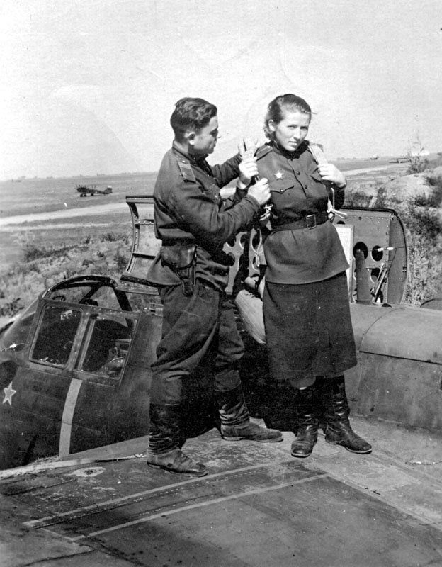 A Red Army woman pilot of A-22 Boston..