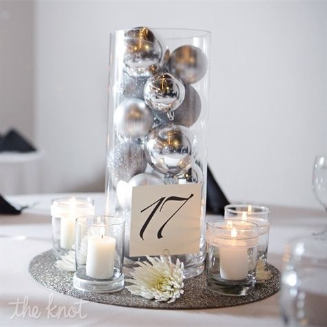 Green Idea After The Reception You Have Silver Ornaments For