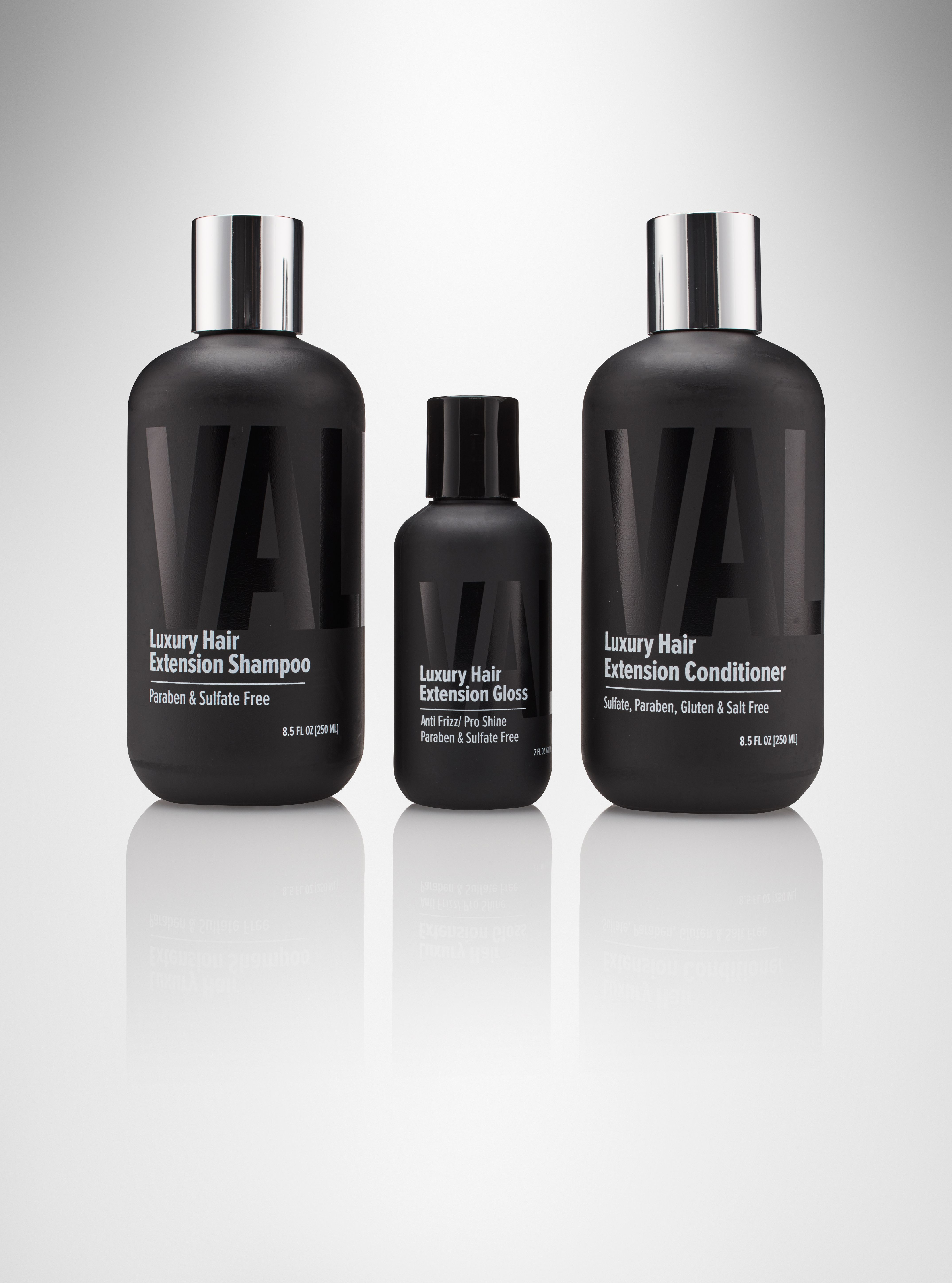 Shampoo Conditioner Gloss Valente Luxury Hair Extension Care