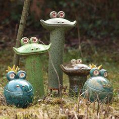 Gartenkeramik tiere google suche keramik pinterest - Keramik katzen fur garten ...