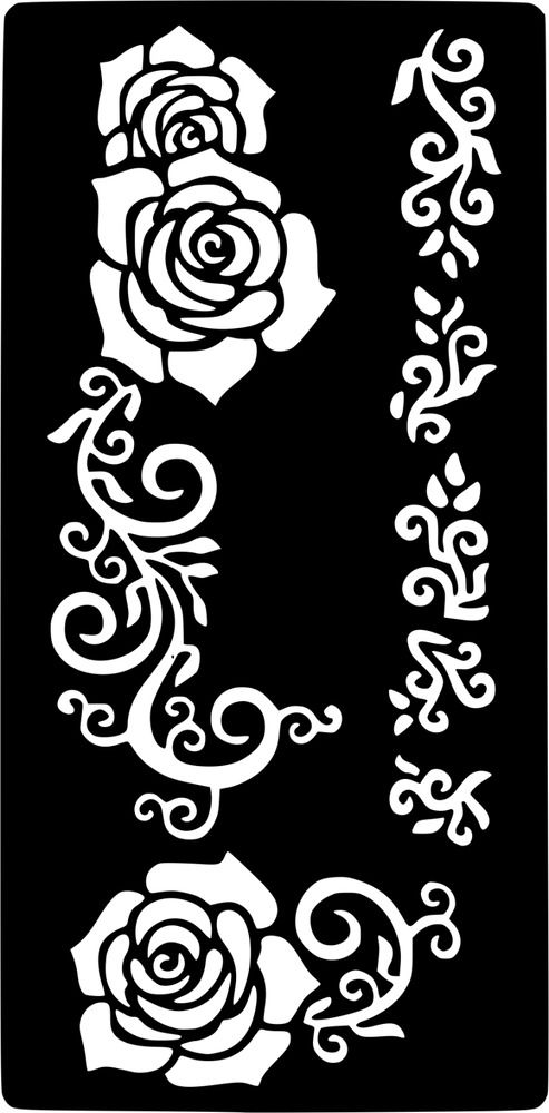 Череп с розами - фото тату