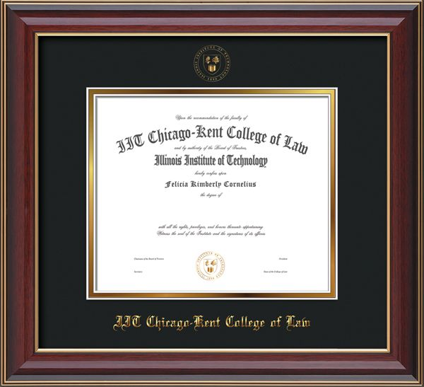 Chicago-Kent College of Law - Diploma Frames : with Seal - with UV ...