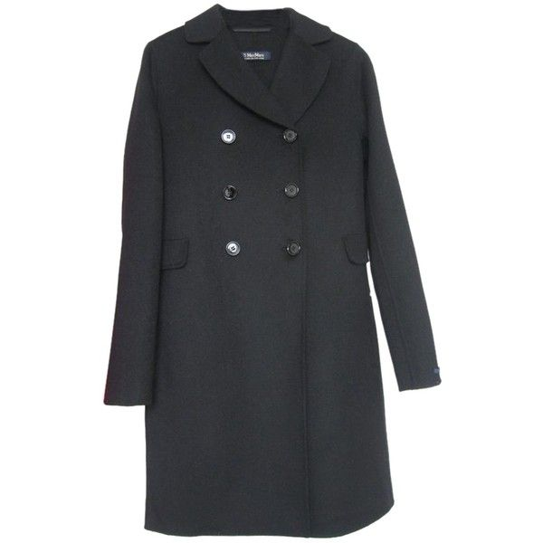 Pre-owned Max Mara Fall Wool Pea Coat ($511) Liked On