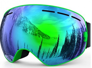 c77623ebce9 ZIONOR Lagopus X Ski Snowboard Goggles Full Mirror Coated Lens Spherical  Lens UV Protection Anti-fog Detachable Strap
