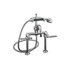 Kohler Antique Polished Chrome 2 Handle Bathtub Faucet With Handheld Diverter Tub Faucet Clawfoot Tub Polished Chrome