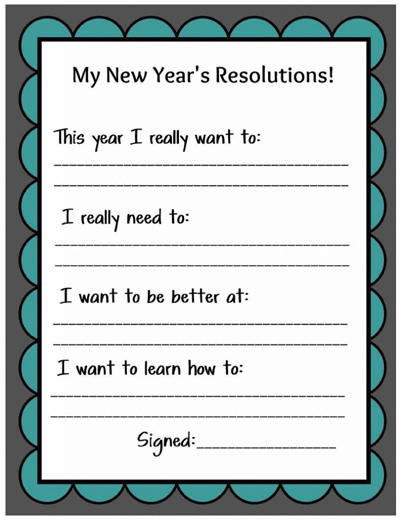 New Years Resolution Worksheet Free Worksheets Library | Download ...