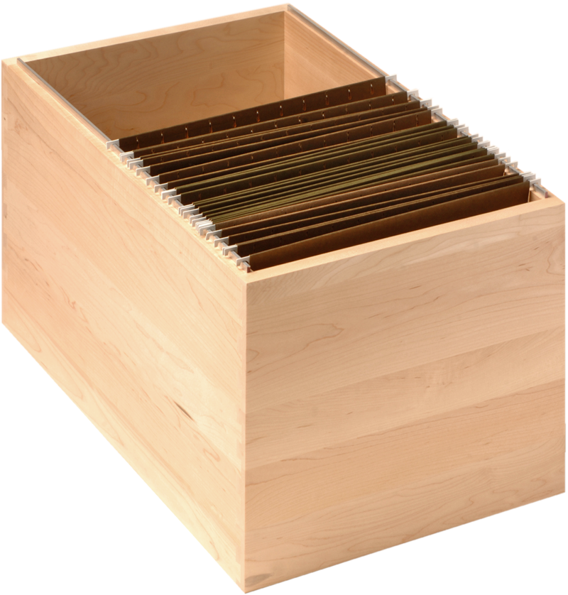 Hanging File Storage Box | Hanging File Slot For Drawer Boxes | WalzCraft