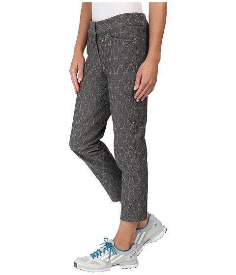official photos b5636 a2742 adidas Golf Advance Brocade Pull On Ankle Pants Charcoal Solid Grey - Zappos.com  Free