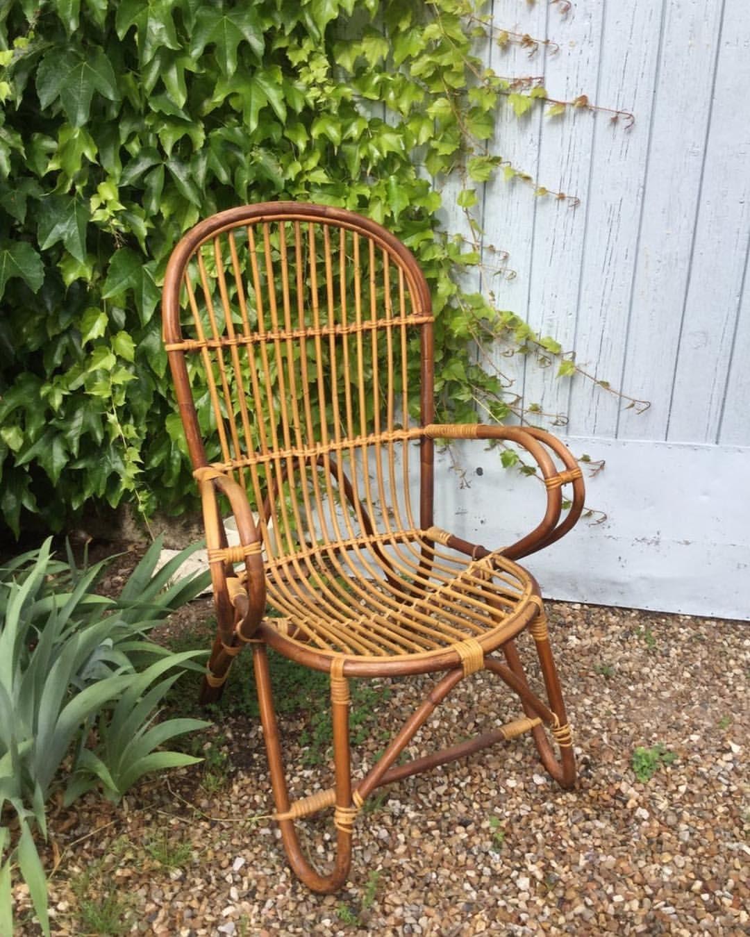 Fauteuil Rotin Vintage Brocantedelapoesie Selency Fauteuilrotin Fauteuilrotinvintage Maisondecampagne Terrasse Ba Rattan Furniture Outdoor Chairs Wicker Chair