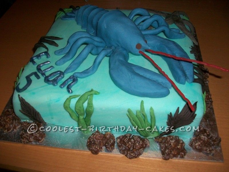 Birthday Cake For 5 Year Boy ~ Coolest lobster birthday cake for a year old boy birthday