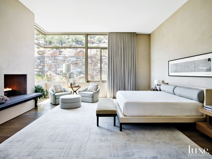 Contemporary Neutral Bedroom With Swivel Chairs Master Bedroom Interior Design Luxury Bedroom Master Bedroom Interior