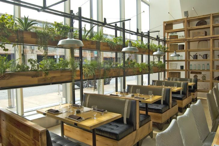 JG Domestic Americana Restaurant Serves Up a Living Wall of He...