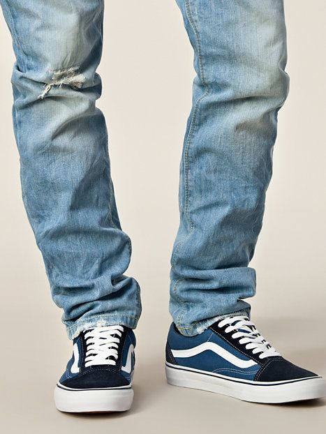 add2ede9f33 Old Skool - Vans - Navy - Trainers - Shoes - Men - NlyMan.com Uk ...