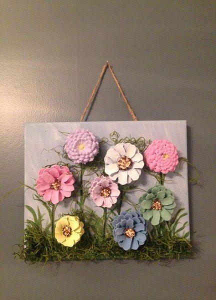 68 Trendy Painting Flower Easy Pine Cones #pineconeflowers