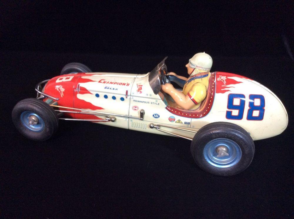 Vintage Sanyo #98 Japanese Tin Lithographed Race Car