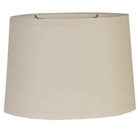 16 Beige Belgian Linen Oval Drum Shade Drum Shade Lamp Shades