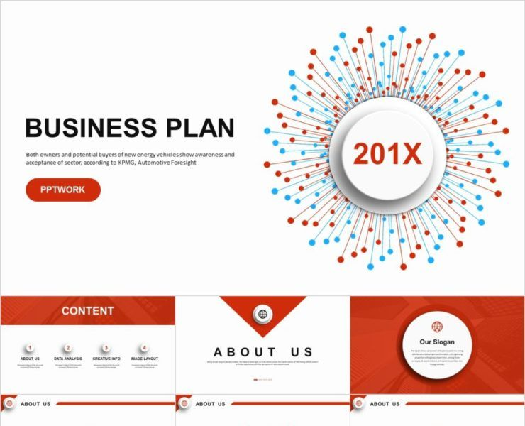 Simple 2 in 1 business plan PowerPoint template#powerpoint