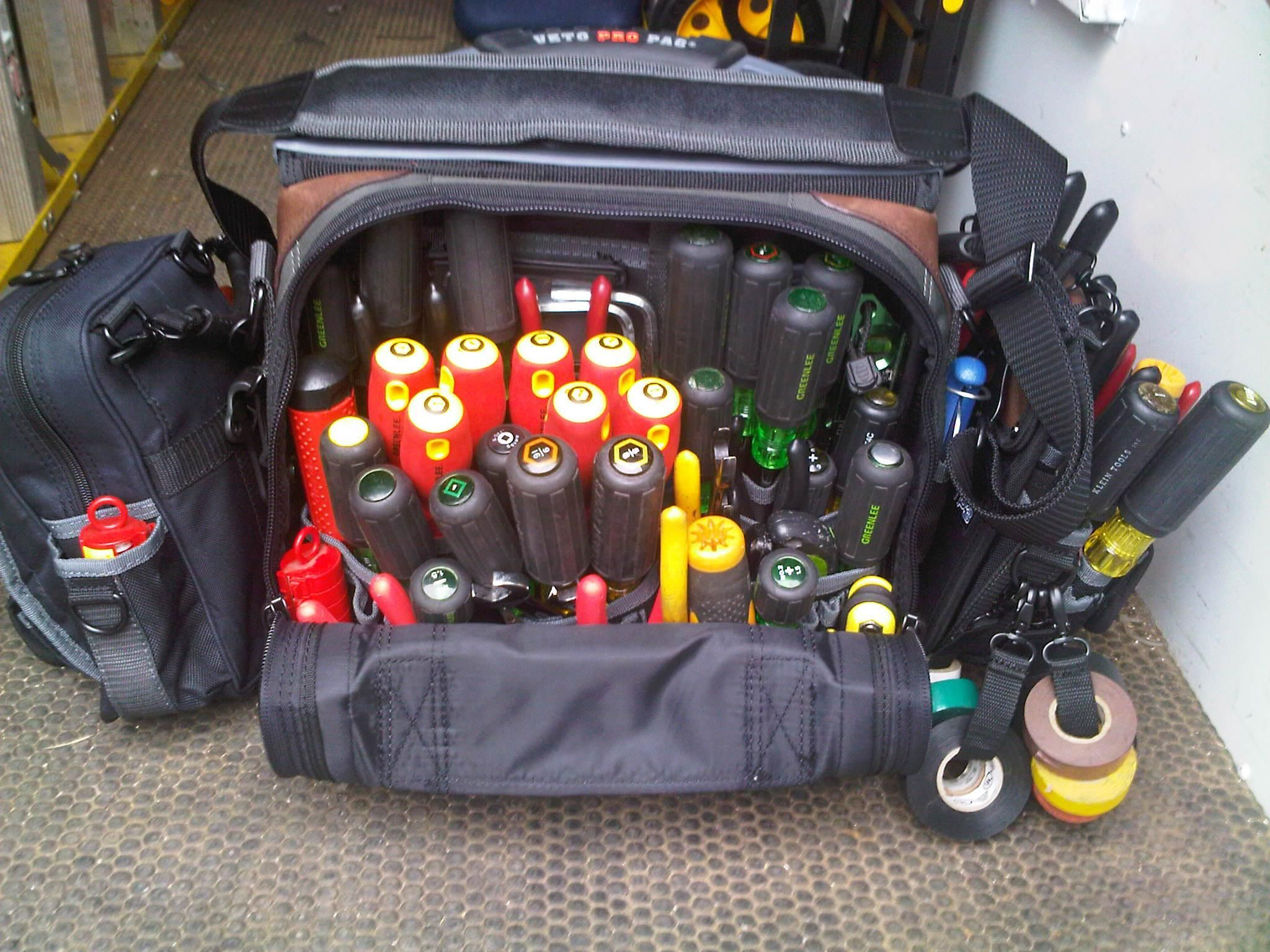 Electrician Tool Bag Series - great line with detachable pouches