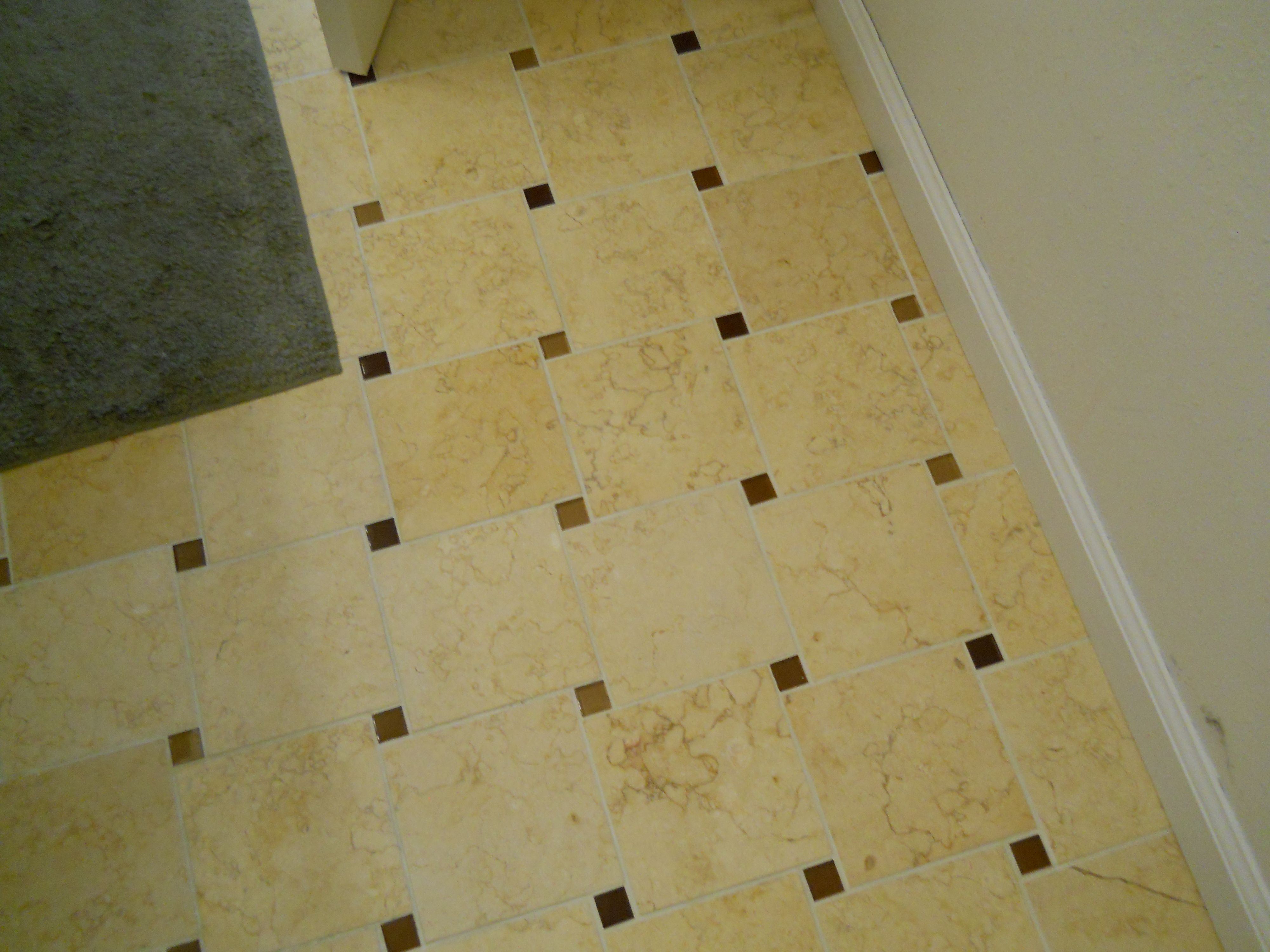 Guest Bathroom Tile Inch Glass Mosaic Tile With Inch Luxor - 6 inch travertine tile