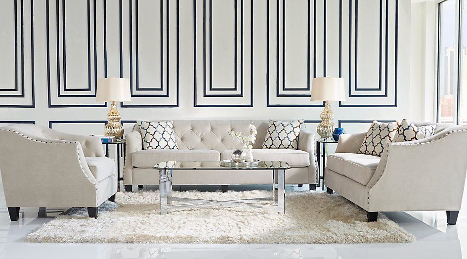 Picture Of Sofia Vergara Monaco Court Oyster 5 Pc Living Room From