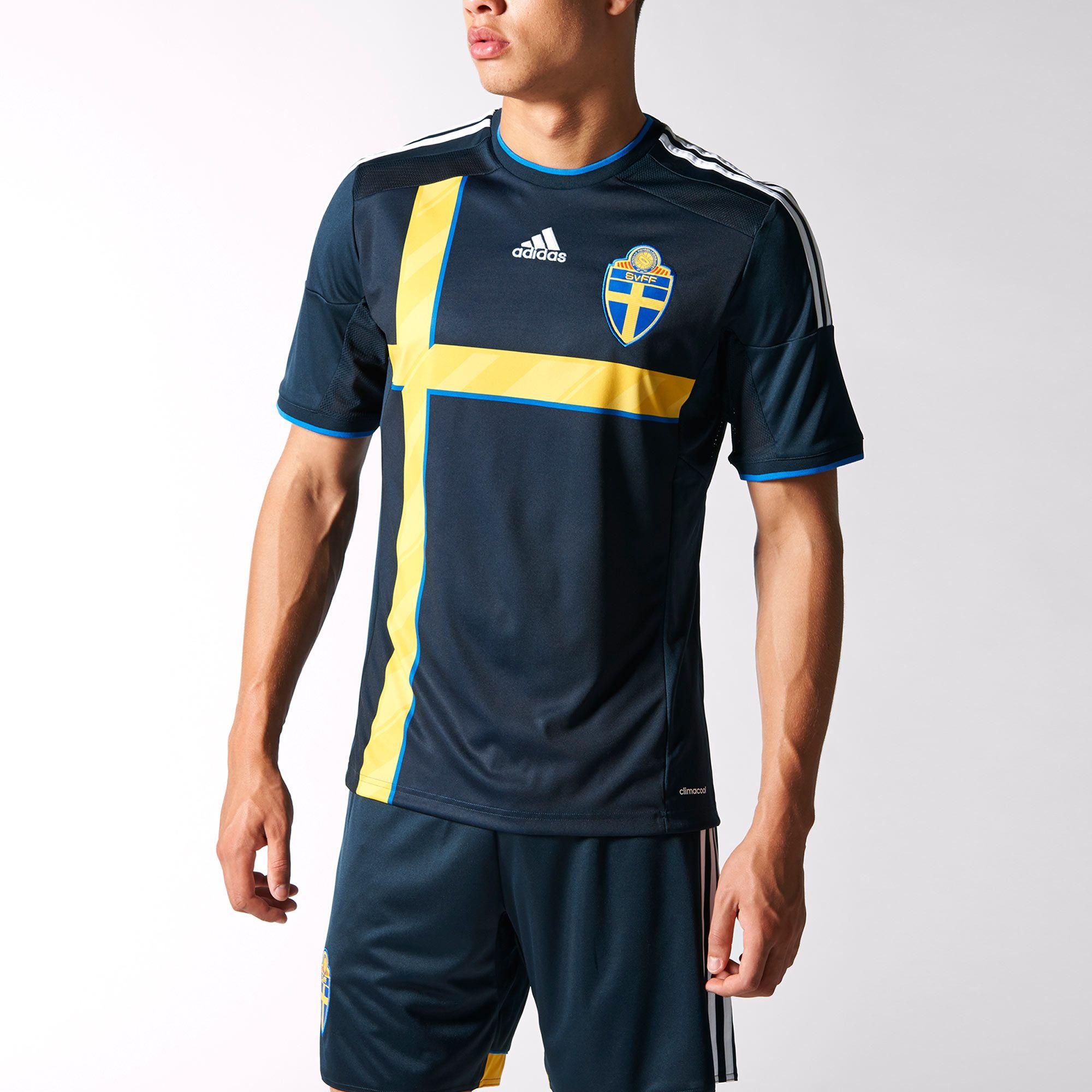 37302ef5cf95b adidas Camiseta Suplente Selección Sueca de Fútbol
