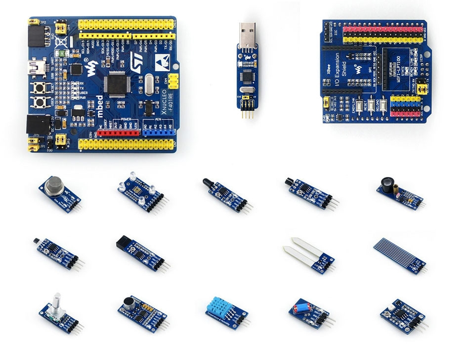 58.49$  Watch now - http://alicar.shopchina.info/go.php?t=32614841473 - XNUCLEO-F401RE Cortex-M4 STM32 Development Board Compatible with NUCLEO-F401RE+ST-LINK/V2 (mini) +IO Expansion+Sensor Modules 58.49$ #buyininternet