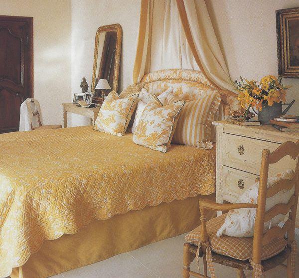 Maison Decor French Country Enchanting Yellow White: Designer, Alix Rico ~ House In Roussillon, Provence. Photo Via Veranda Magazine.
