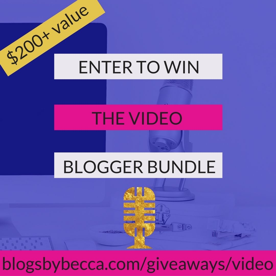 The Ultimate Video Blogger Giveaway