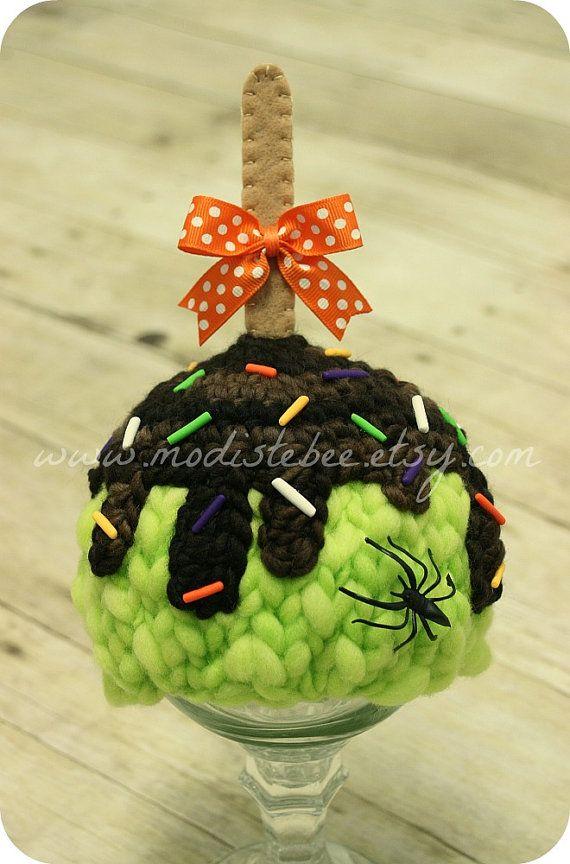 Halloween Candy Apple Hat  newborn photo prop by ModisteBee, $45.00