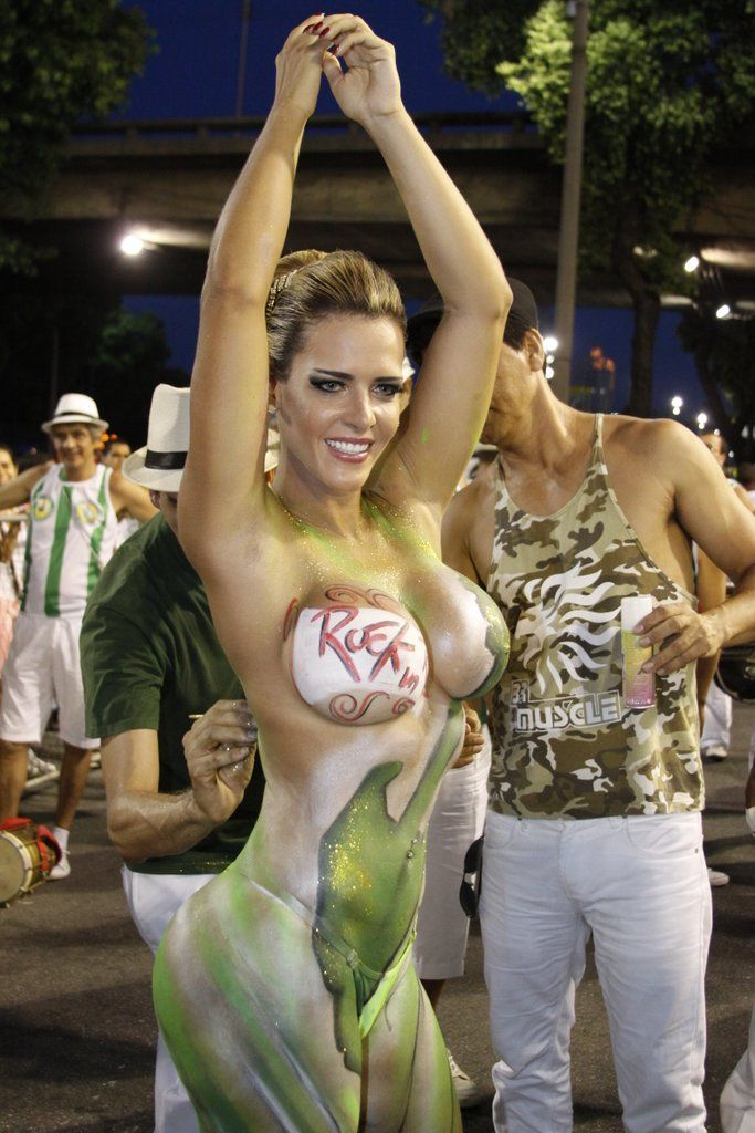 Busty women in body paint