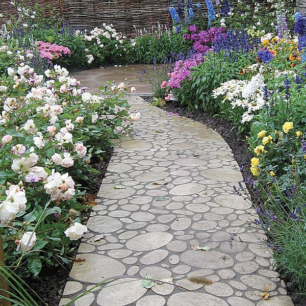 Paving Tile For Exterior Floors Flagstone Aspect Old Town Chelsea Cobble Bradstone Small Garden Design Garden Small Garden