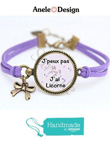 Bracelet J\u0027peux pas J\u0027ai Licorne https//www.amazon