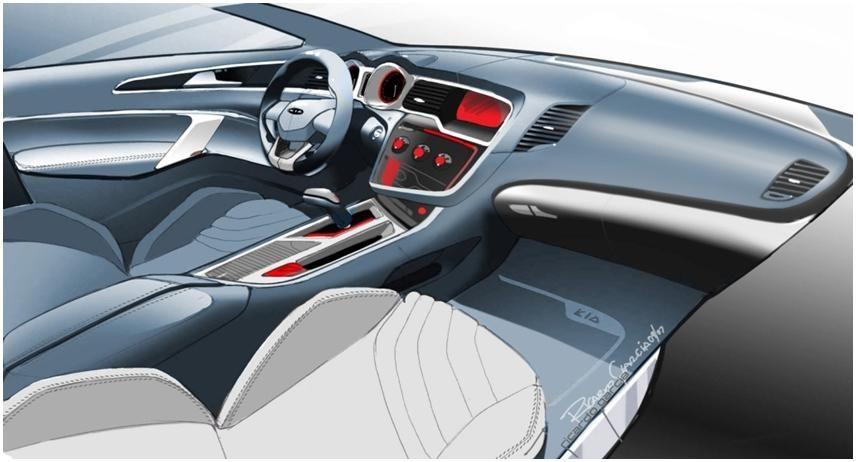 All-new Optima interior sketch-1