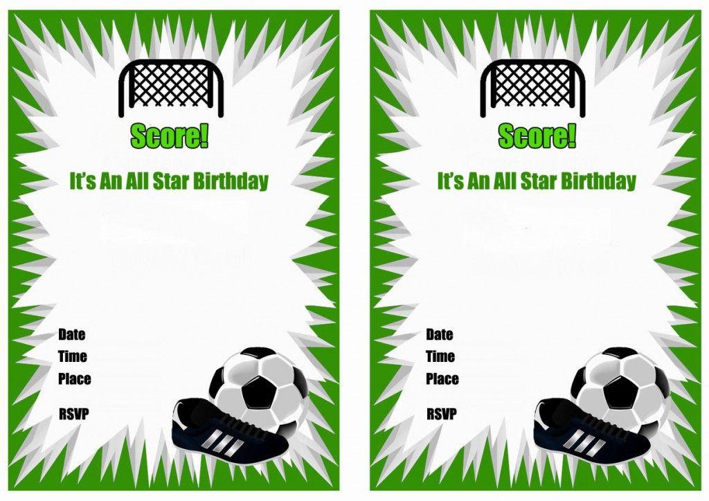 Soccer Birthday Invitations – Birthday Printable | thank yous ...