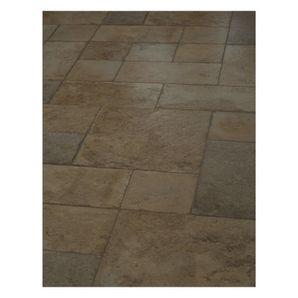 20.02 Sq.Ft. 10mm Cottage Stone Mosaic Laminate Flooring Tiles ...