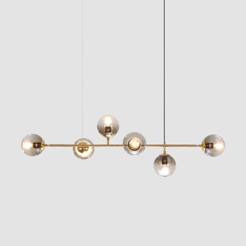 Loft Industry Modern Gold Tubes & Glass Square Chandelier