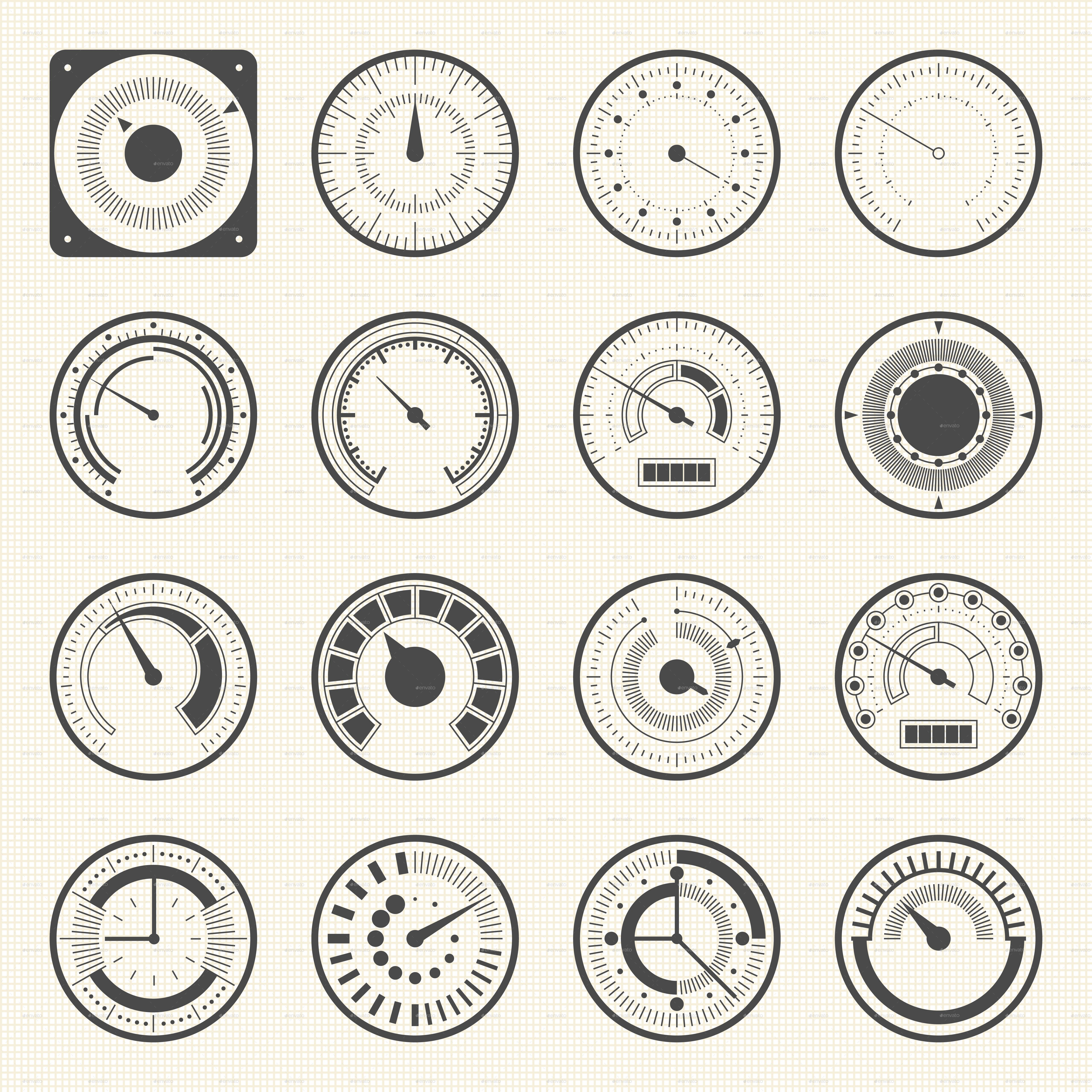 Collection Of Round Gauges Preview