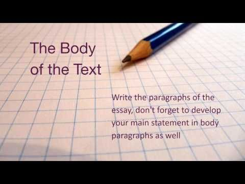 On the spot essay writing tips