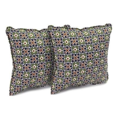 Hampton Bay Fall River Moss Outdoor Throw Pillow (2-Pack)-DY11034-TPG at The Home Depot