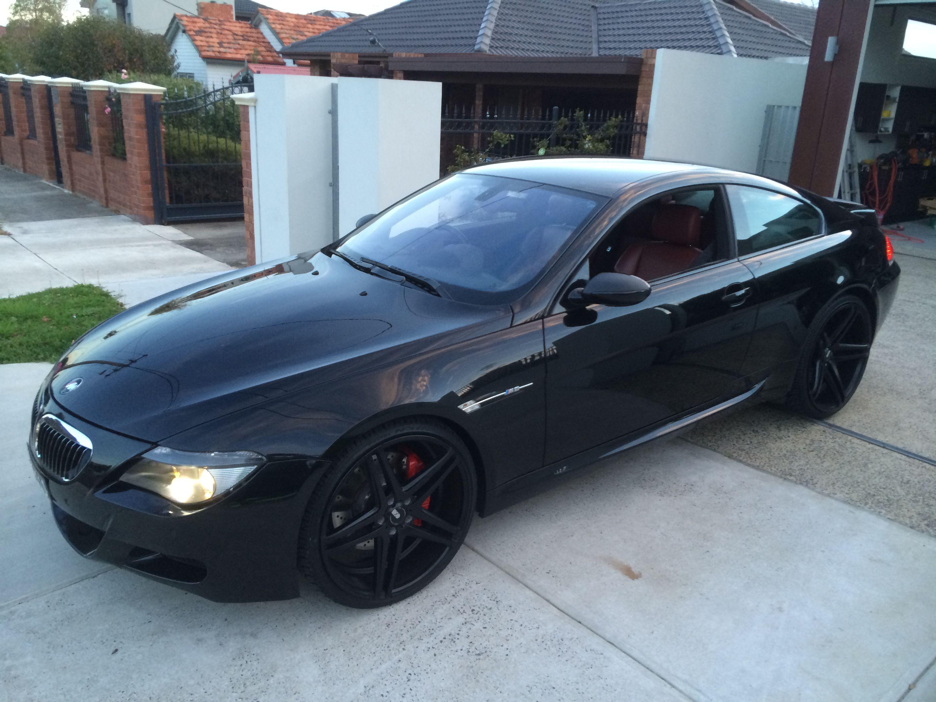My Black Bmw M6 Whataf Machine Black Wheels 22 Inch With