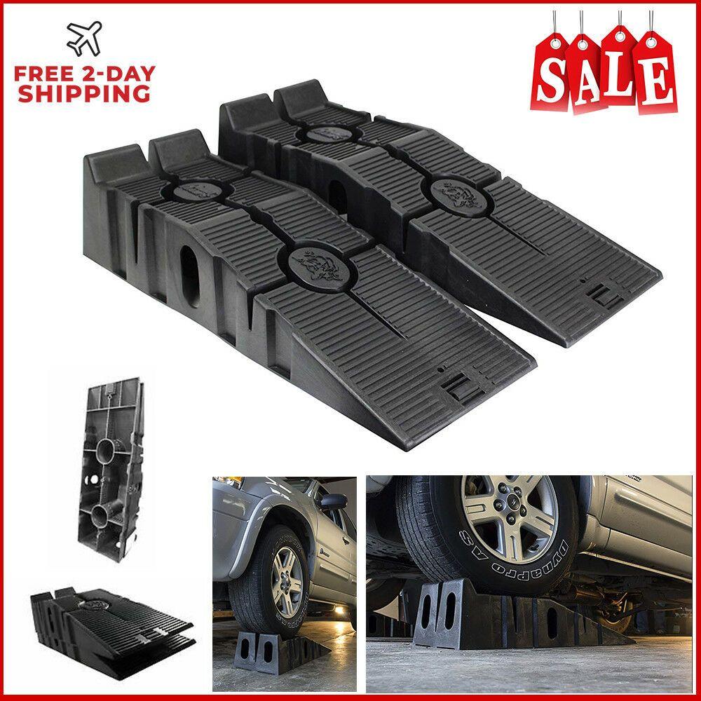 Pair, 12,000lb. GVW Capacity RhinoGear 11909 RhinoRamps Vehicle Ramps