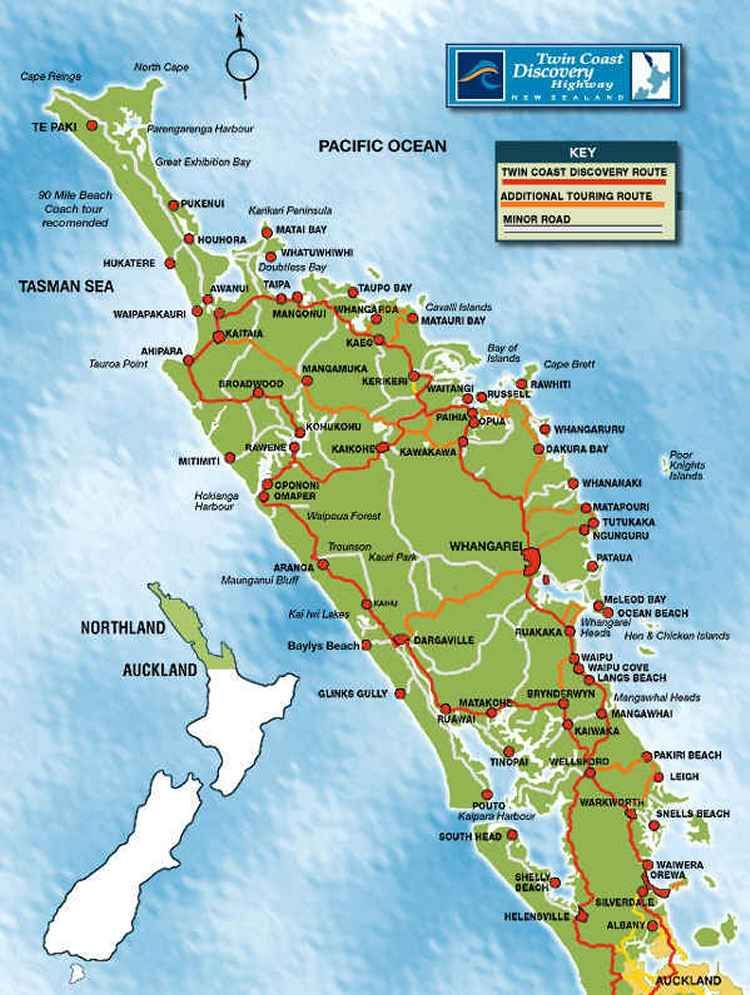 Northland New Zealand Map.Northland Region This Is A Reasonably Detailed Map To Plan The