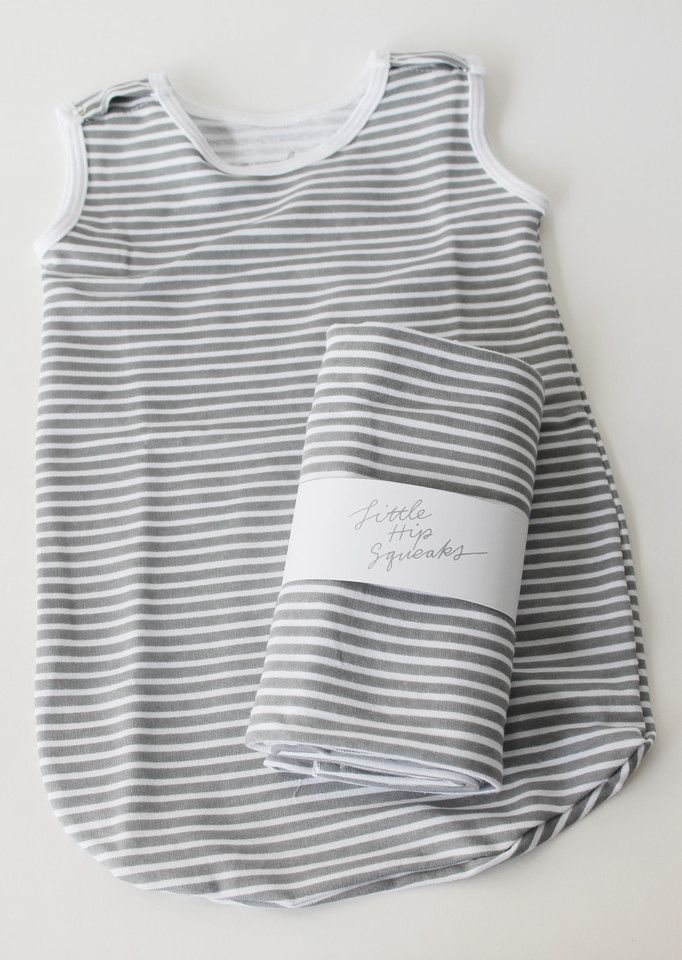 The Cozy Sleep Sack // Charcoal Stripe | Little Hip Squeaks