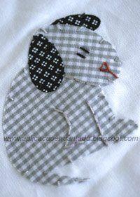 Aplicações em roupas e enxovais de bebê