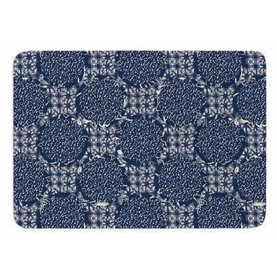 KESS InHouse Indigo Lattice by Laura Nicholson Bath Mat