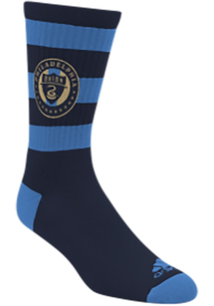Philadelphia Union Adidas Rugby Stripe Mens Crew Socks 14856373 Crew Socks Men Philadelphia Union