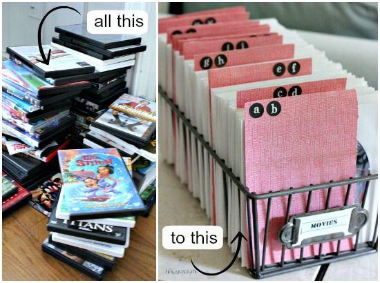 Hi Sugarplum | Organized DVDs & CDs