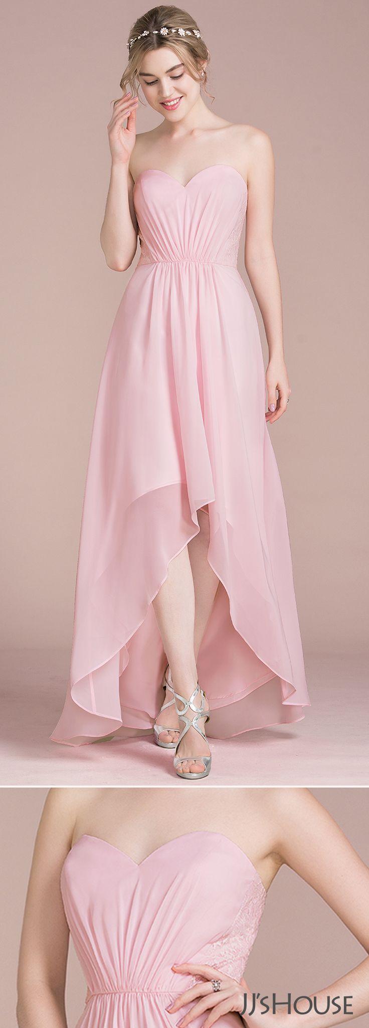 A-Line/Princess Sweetheart Asymmetrical Chiffon Bridesmaid Dress ...